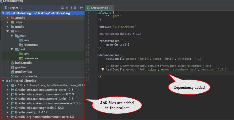 Download Cucumber Dependencies - Letzdotesting
