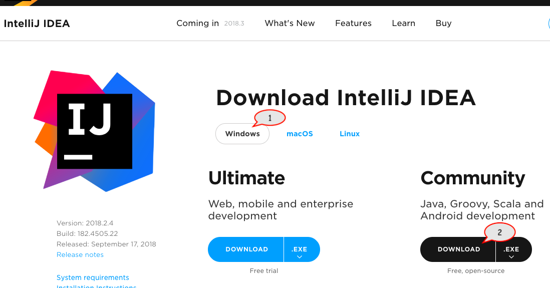Download and Install IntelliJ for Windows